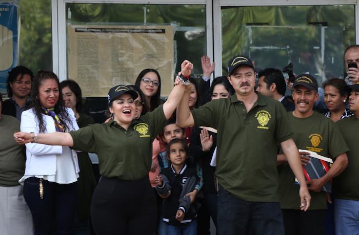 Tras dos años en prisión, #NestoraSalgado, líder de la Policía Comunitaria de Olinalá, Guerrero, salió del penal de Tepepan. Foto: Francisco Cañedo, SinEmbargo
