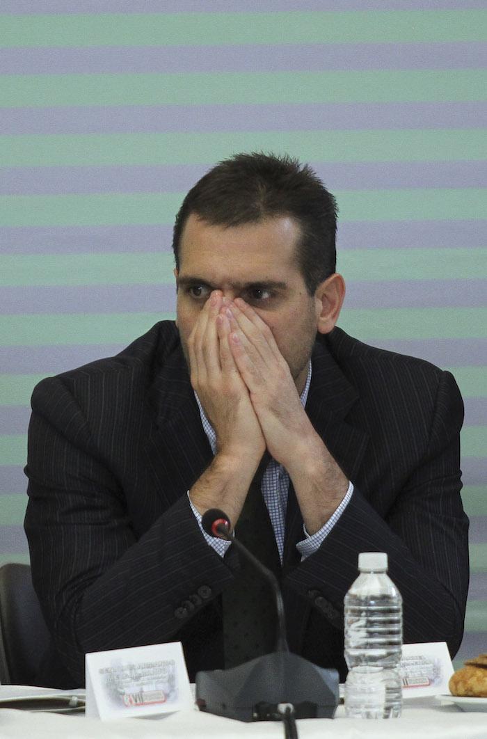 El Senador Jorge Emilio González, hijo del fundador del Partido Verde Ecologista de México (PVEM), arrastra a sus 43 años un largo historial de presuntos delitos sin sentencia. Foto: Cuartoscuro