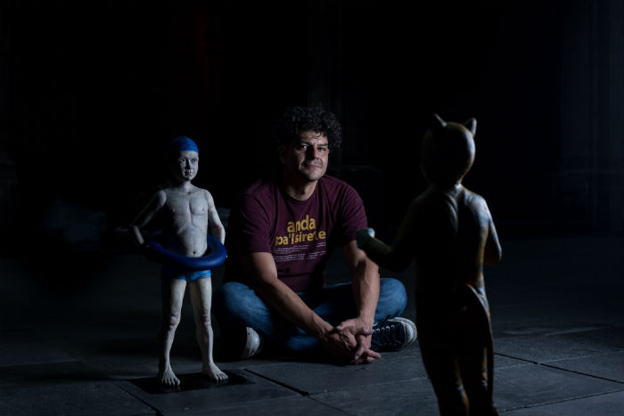 Jorge Antonio López y sus criaturas perturbadoras. Foto: Francisco Cañedo, SinEmbargo