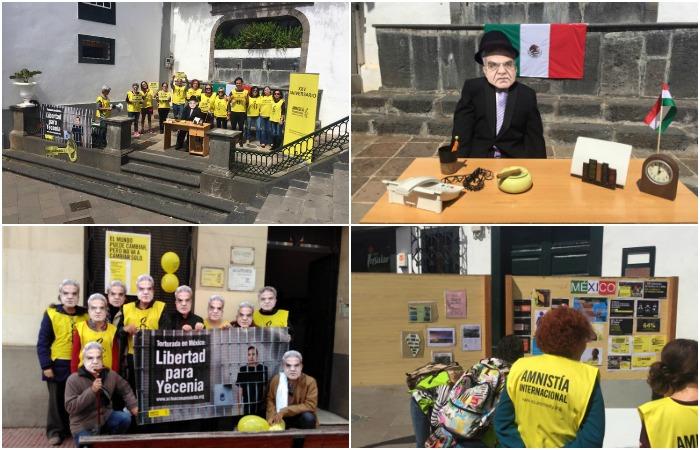 Amnistía Internacional exige desde España la liberación de Yesenia Armenta Graciano. Foto: AI.