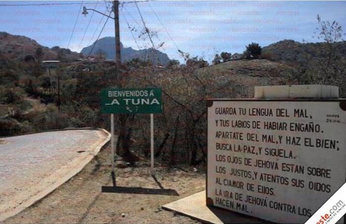"""""""La Tuna"""", el pueblo natal de """"El Chapo"""". Foto: Noroeste"""