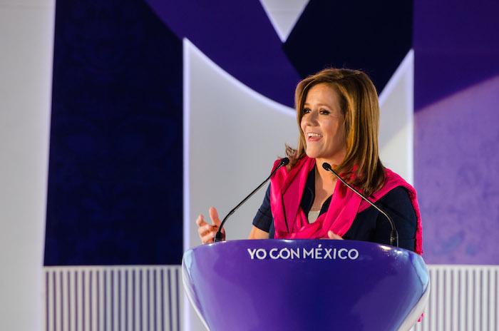 Margarita Zavala escudó a su esposo ante los señalamientos de equivocarse en cuanto a su estrategia antidrogas. Foto: Cuartoscuro