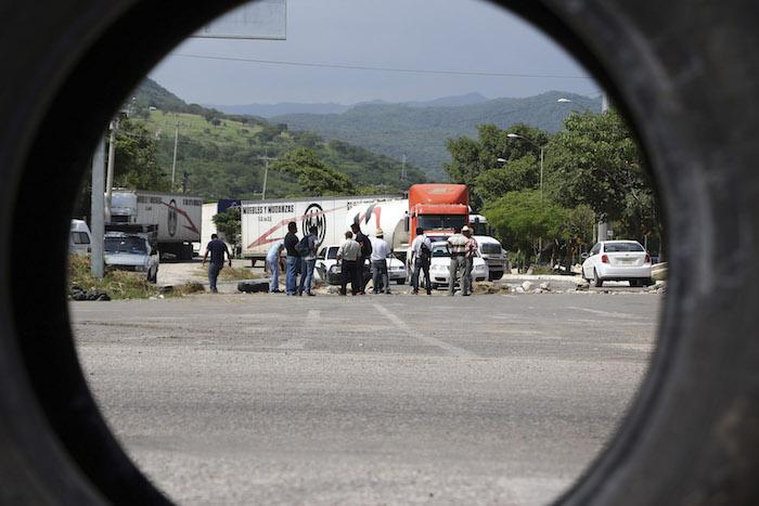 Maestros de la CNTE retiraron los bloqueos carreteros en Chiapas después de 13 días consecutivos.Foto: Cuartoscuro