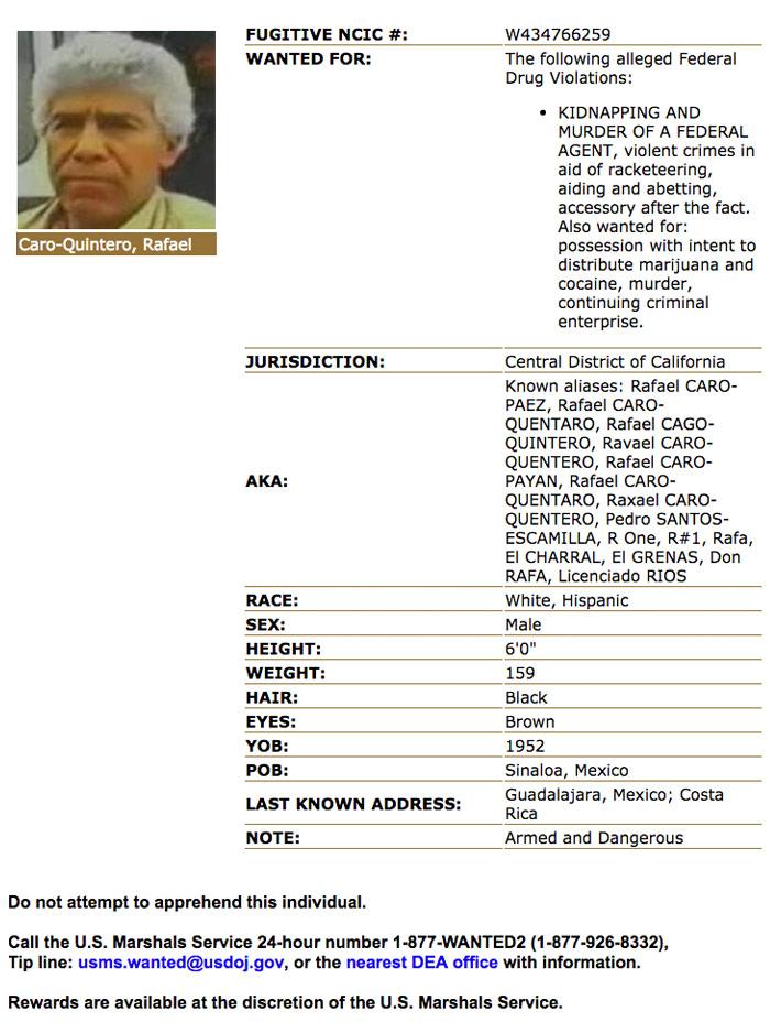 La ficha en Estados Unidos del capo mexicano. Imagen: Corte de Los Ángeles