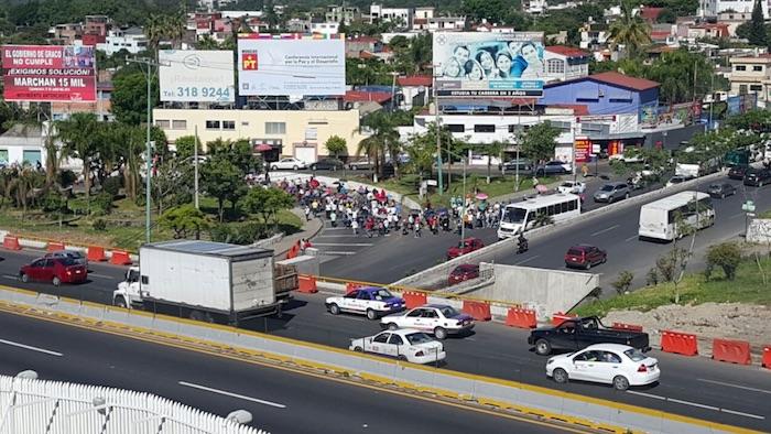 Marcha SNTE en Morelos