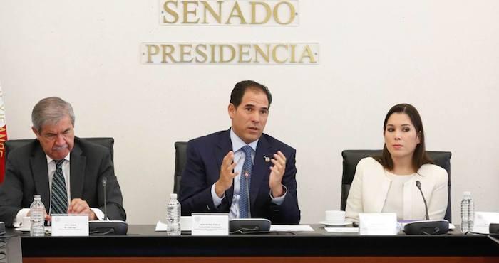 El presupuesto fue presentado en una reunión los titulares del Senador, la Auditoría Superior de la Federación, INAI,  Transparencia Mexicana, y el Despeacho de la Secretaría de la Función Pública. Foto: Especial