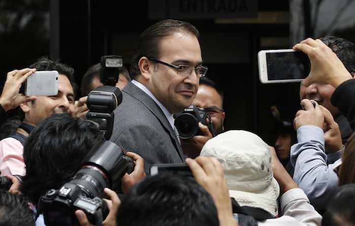 Javier Duarte está llamado a comparecer el 25 de octubre ante el PRI. Foto: AP.