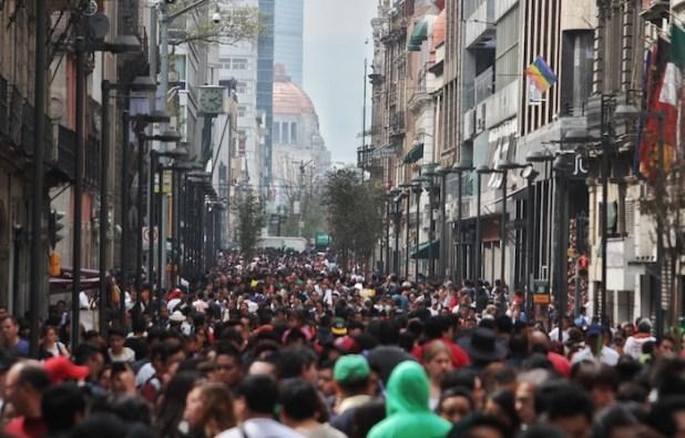Vista de la calle Francisco I. Madero del Centro Histórico de la Ciudad de México. Foto: Cuartoscuro