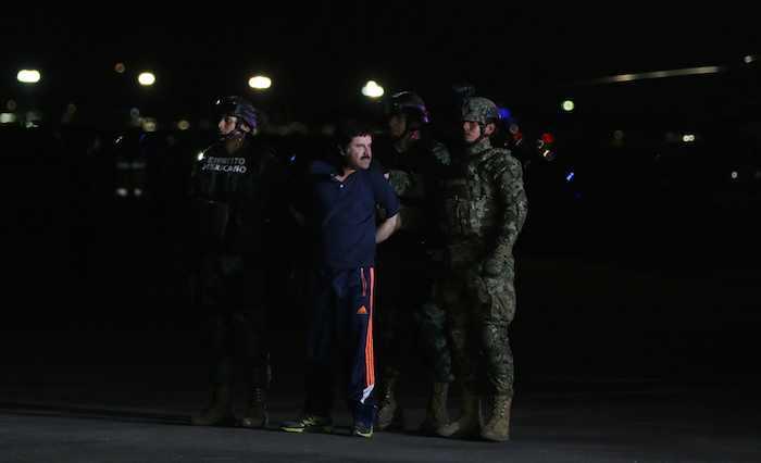 """""""El Chapo Guzmán"""" fue detenido el pasado mes de enero en Los Mochis, Sinaloa. Foto: Cuartoscuro"""