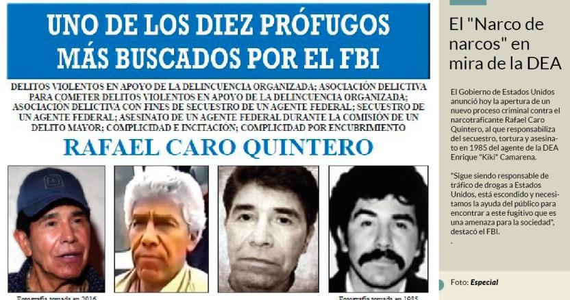 dea - Hermano de Rafael Caro Quintero pasa de peligroso narco a estudiante modelo y poeta en EU