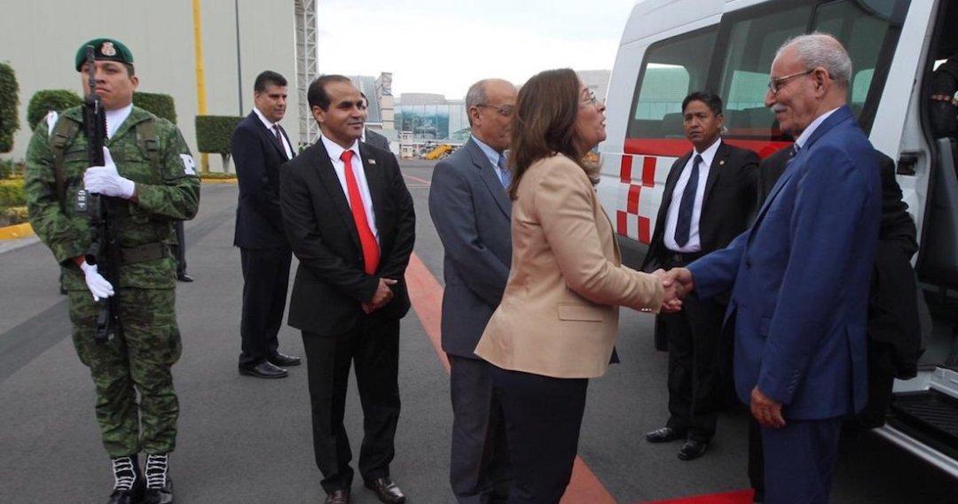 Resultado de imagen para Llega a México el presidente de República Saharaui a toma de posesión