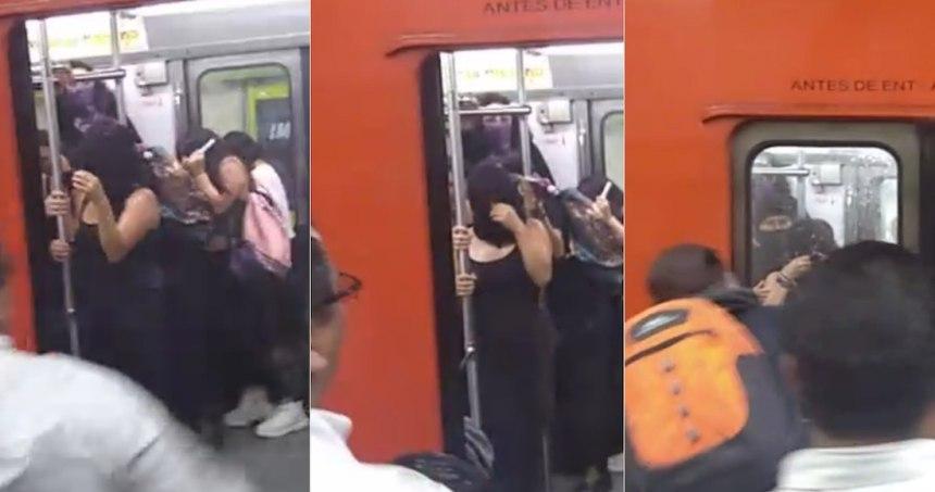 """827b509b 7dfa 4e62 a5b8 6446c4d07133 - FUERTE VIDEO: """"¿Ninguno hace nada? ¡Un hombre me está pegando!"""", reclama mujer en Metro de CdMx"""