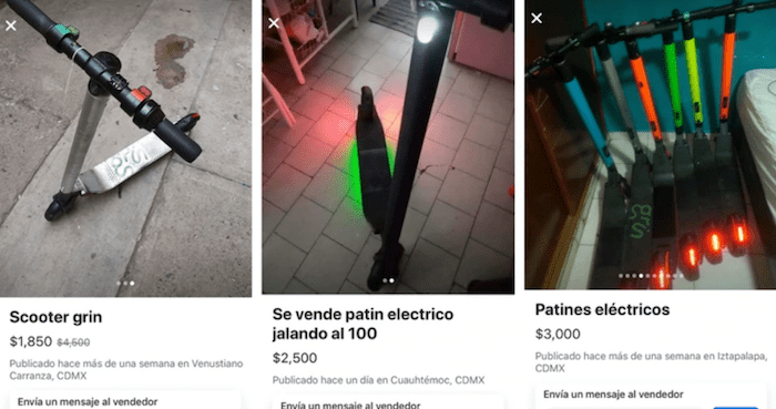 captura de pantalla 2019 08 02 a las 7 43 52 1 - Los patines robados a Grin en la CdMx, que obligó a cerrar la empresa, se venden en Facebook