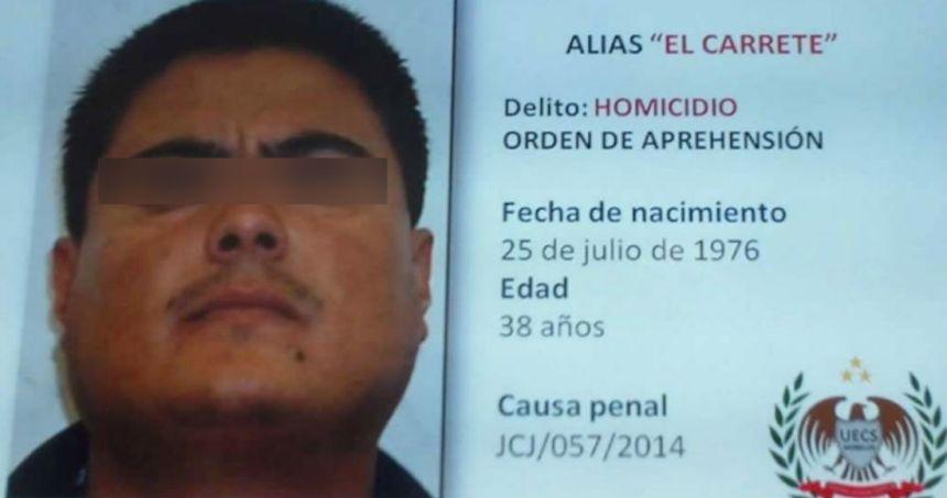 """el carrete - Autoridades dan formal prisión a """"El Carrete"""", líder de Los Rojos ligado al caso Ayotzinapa"""