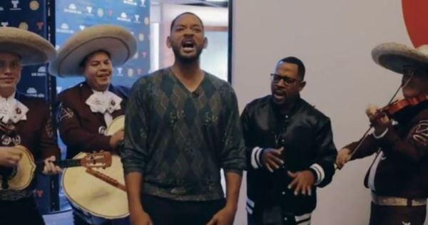 """VIDEO: Los actores Will Smith y Martin Lawrence cantan """"Bad Boys"""" acompañados de mariachi"""