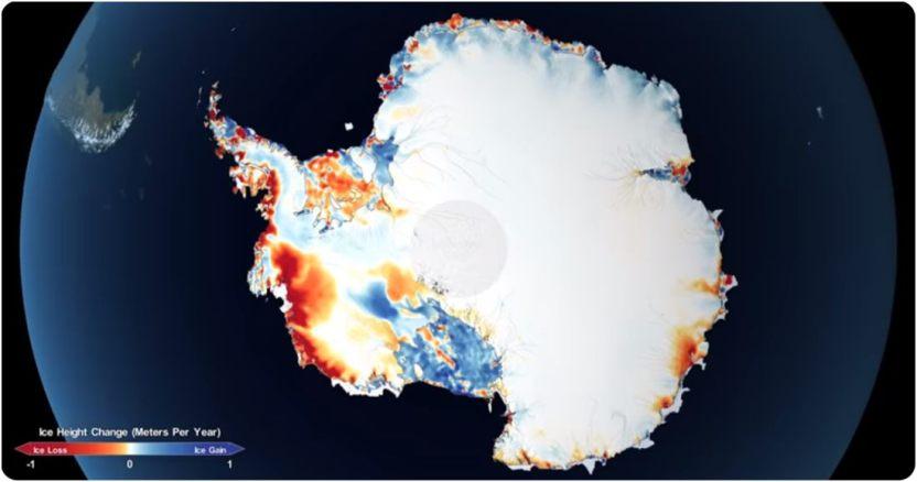 nasa 1 - Científicos calculan que un iceberg del tamaño de Chicago, EU, se desprenderá en un mes de la Antártida