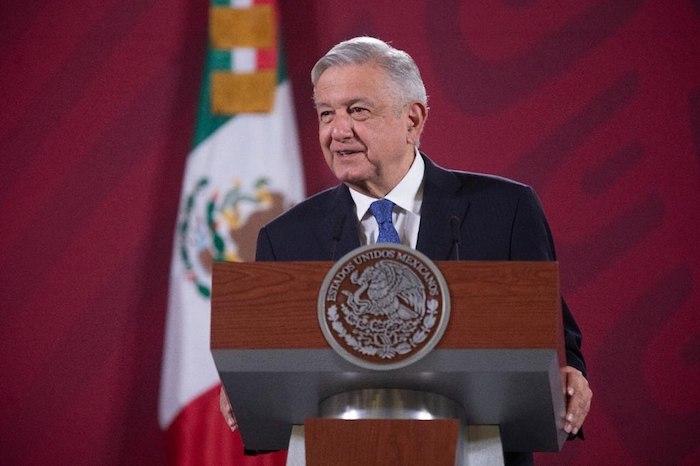 El Presidente Andrés Manuel López Obrador en su conferencia de este martes en Palacio Nacional.