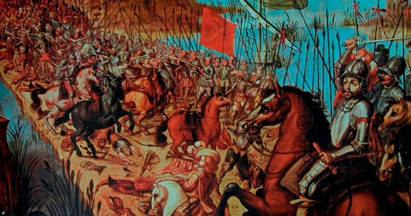 batalla - Un bloqueo marítimo y el corte de suministro de agua, la estrategia de Cortés para sitiar Tenochtitlan