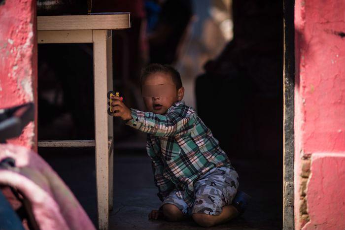 Un niño de Zacatecas en contexto de pobreza.