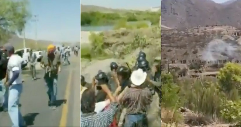 enfrentamiento - Agricultores y pobladores de Chihuahua expulsan a elementos de la GN de la presa La Boquilla