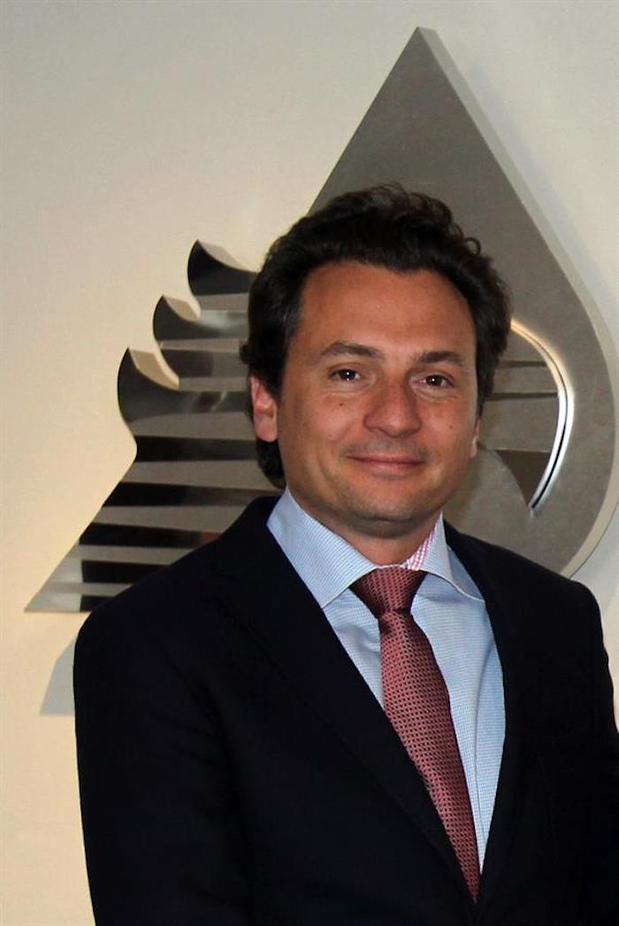 Fotografía fechada el 14 de marzo de 2014 que muestra al exdirector de Petróleos Mexicanos (Pemex), Emilio Lozoya, en Ciudad de México.