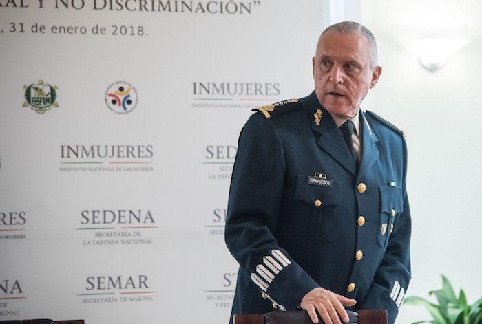 La acusación formal contra el General acusa a Cienfuegos de asistir en operaciones de narcotráfico entre diciembre de 2015 y febrero de 2017.