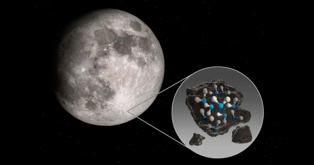 Un estudio mostró que existe una señal inequívoca de detección de agua molecular en la Luna.