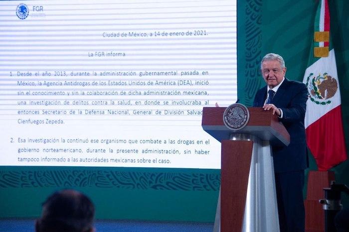 El Presidente Andrés Manuel López Obrador leyó el comunicado que emitió la Fiscalía General de la República (FGR).