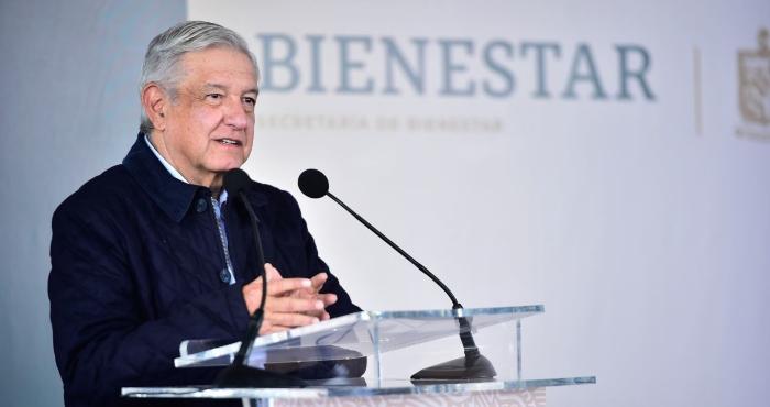Presidente Andrés Manuel López Obrador, quien desde el domingo anunció que dio positivo a COVID-19.