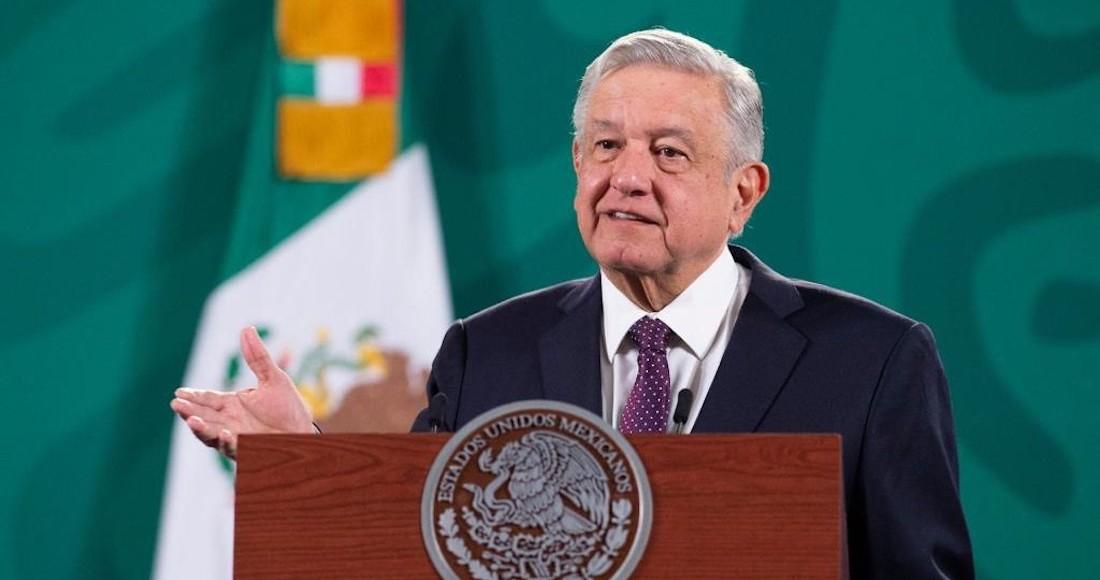 El Presidente Andrés Manuel López Obrador en su conferencia matutina de este miércoles.