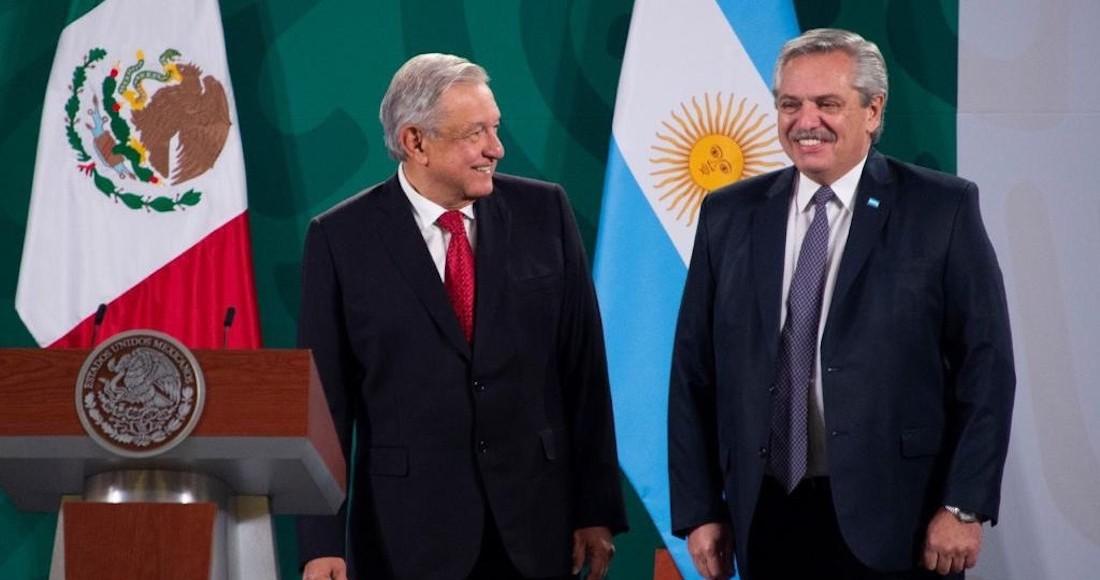 El Presidente de México, Andrés Manuel López Obrador, y su homólogo argentino, Alberto Fernández.