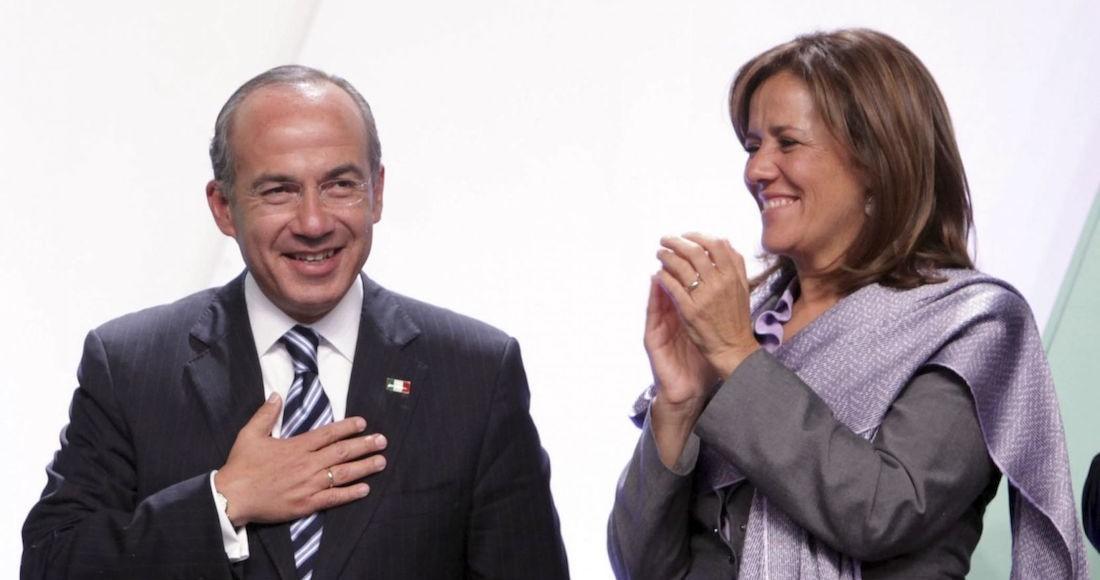Felipe Calderón Hinojosa, expresidente de México, y su esposa Margarita Zavala en noviembre de 2012.