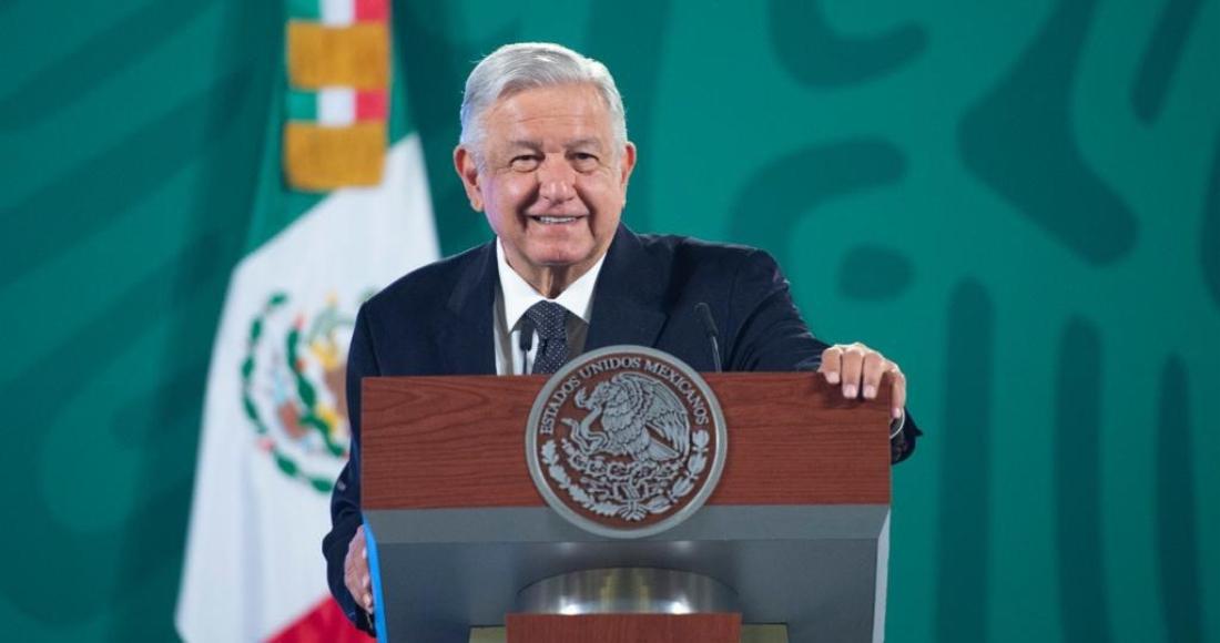 El Presidente Andrés Manuel López Obrador en su conferencia de este viernes.