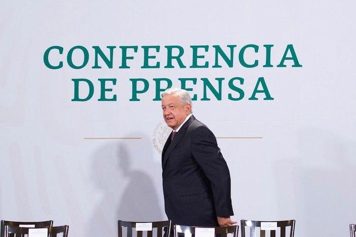 El Presidente Andrés Manuel López Obrador a su arribo a Palacio Nacional.