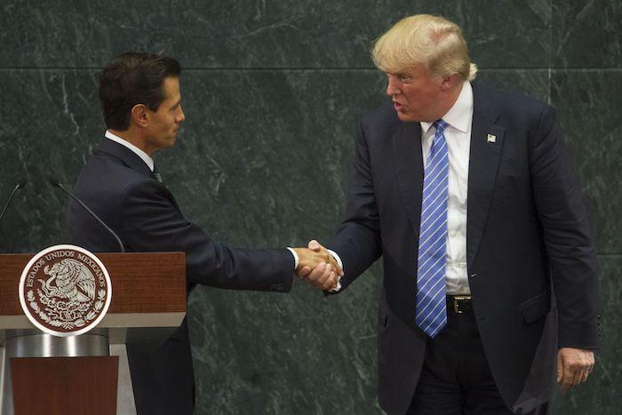 El pasado 31 de agosto de 2016, Enrique Peña Nieto, en ese momento Presidente de México, y Donald Trump, quien era candidato republicano a la Presidencia de Estados Unidos, ofrecieron mensaje conjunto luego de una reunión que sostuvieron en la residencia oficial de Los Pinos.