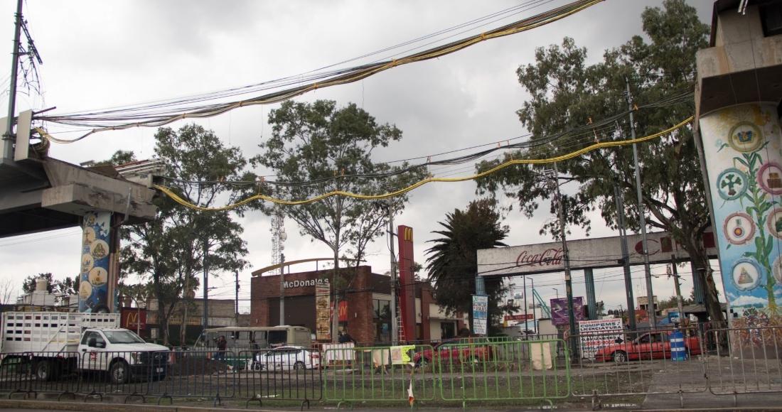 Zona del del colapso de la estación Olivos de la Línea 12 del Metro.