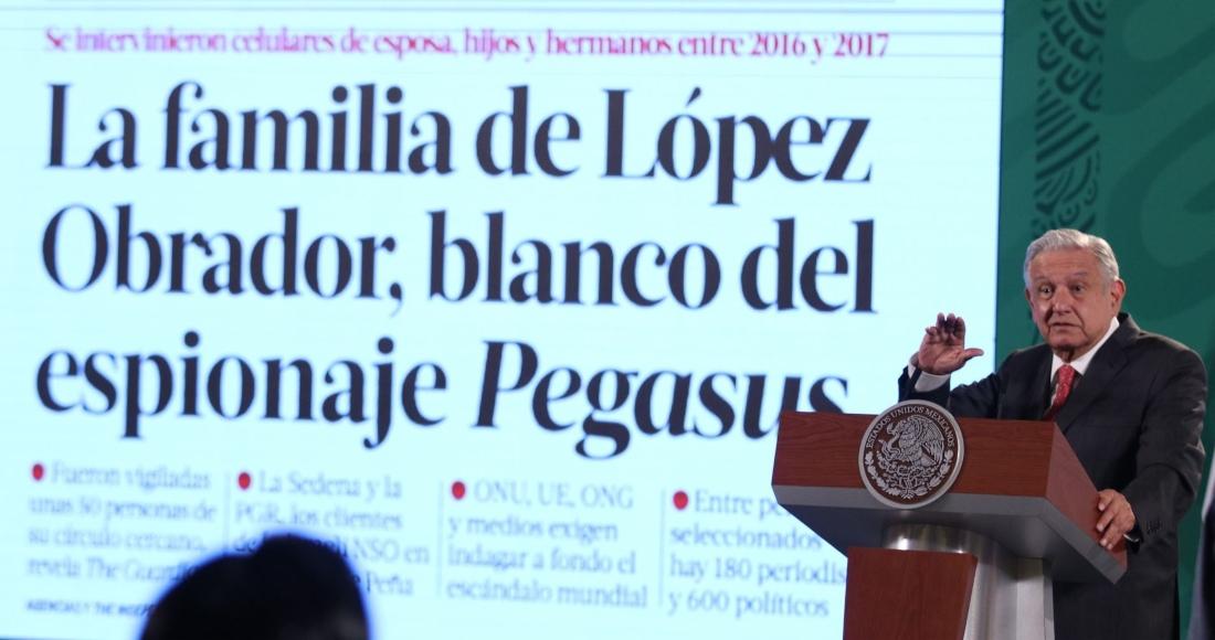 El Presidente Andrés Manuel López Obrador habló en su conferencia de este martes sobre el espionaje con Pegasus.