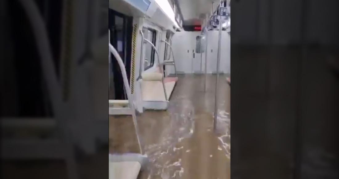 Metro inundado en China