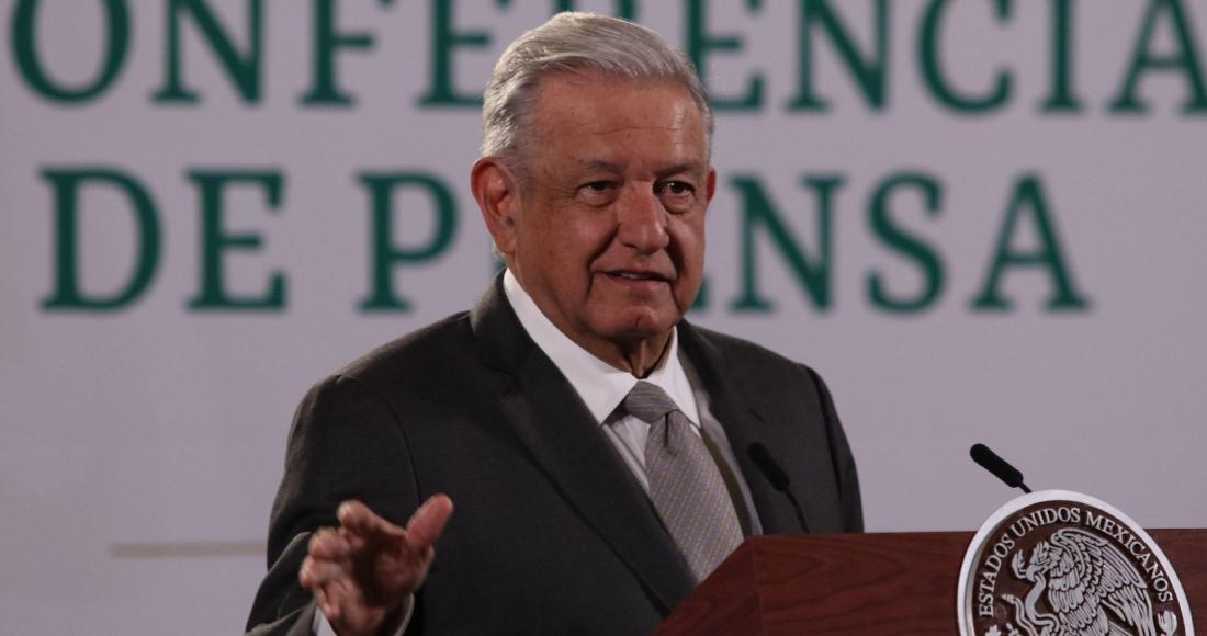 Andrés Manuel López Obrador, Presidente de México, durante su conferencia de prensa en Palacio Nacional.