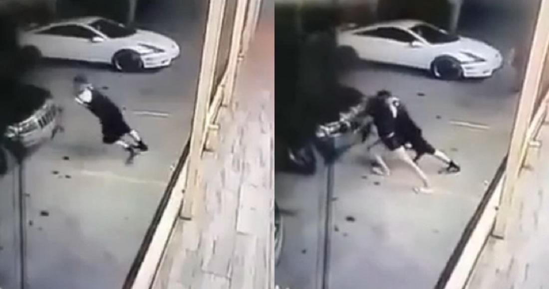 Muere mujer prensada por camioneta
