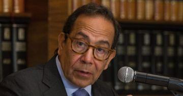 Carlos Salazar Lomelí, presidente del Consejo Coordinador Empresarial (CCE), en conferencia.