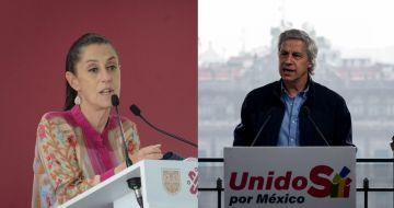 Claudia Sheinbaum Pardo, Jefa de Gobierno de la Ciudad de México, y Claudio X. González Guajardo, fundador de Sí por México.
