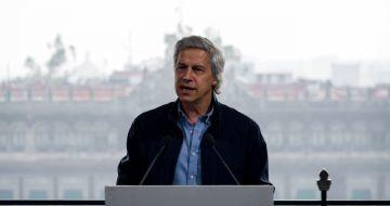 Claudio X. González Guajardo durante la conferencia de prensa de Sí por México en el Gran Hotel de la Ciudad de México.