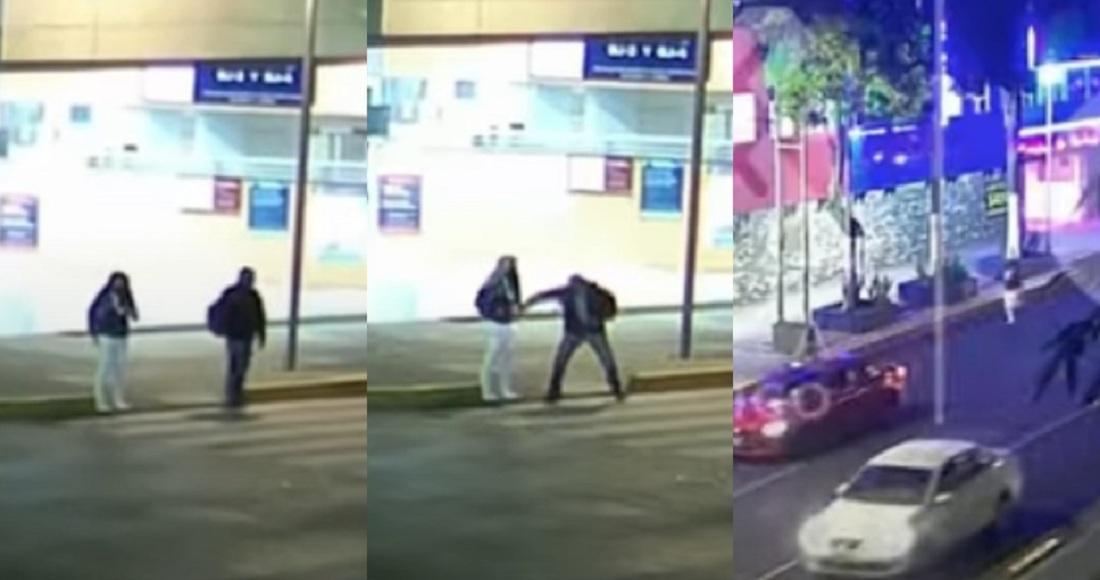VIDEO en CdMx: Sujeto intenta asaltar a una enfermera… y se lleva una sorpresa