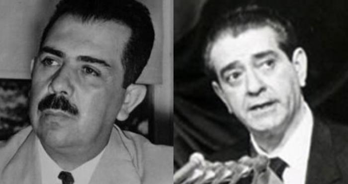 Los expresidentes Lázaro Cárdenas y Adolfo López Mateos.