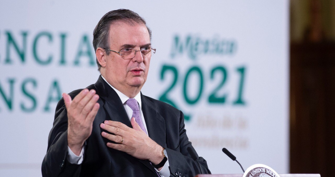 Marcelo Ebrard Casaubón, titular de la Secretaría de Relaciones Exteriores (SRE), en conferencia de prensa.