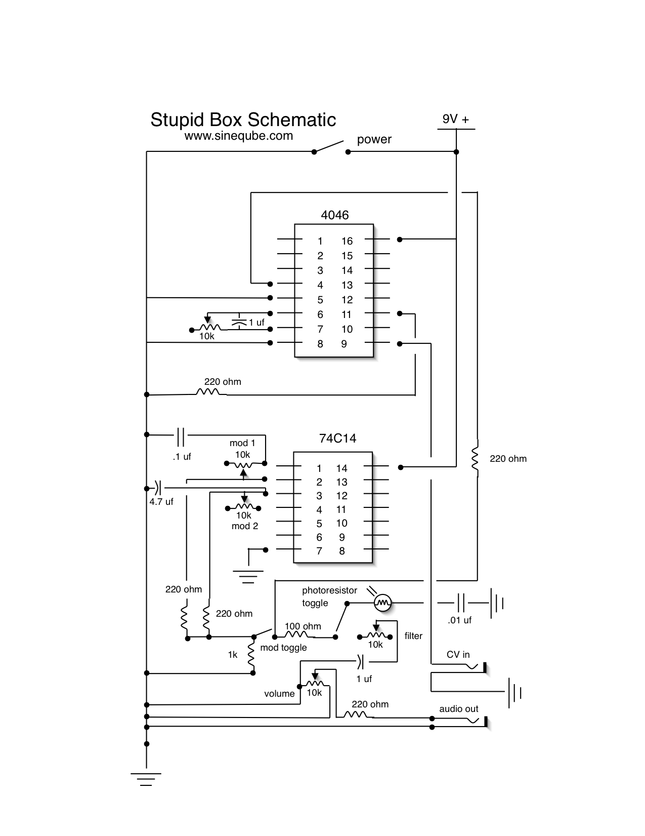 Updated Stupid Box Schematic Sineqube