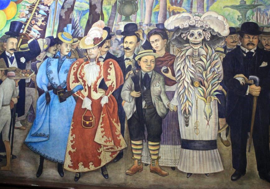 Diego Rivera, Suono de una tarde dominical en la alemeda central, 1948