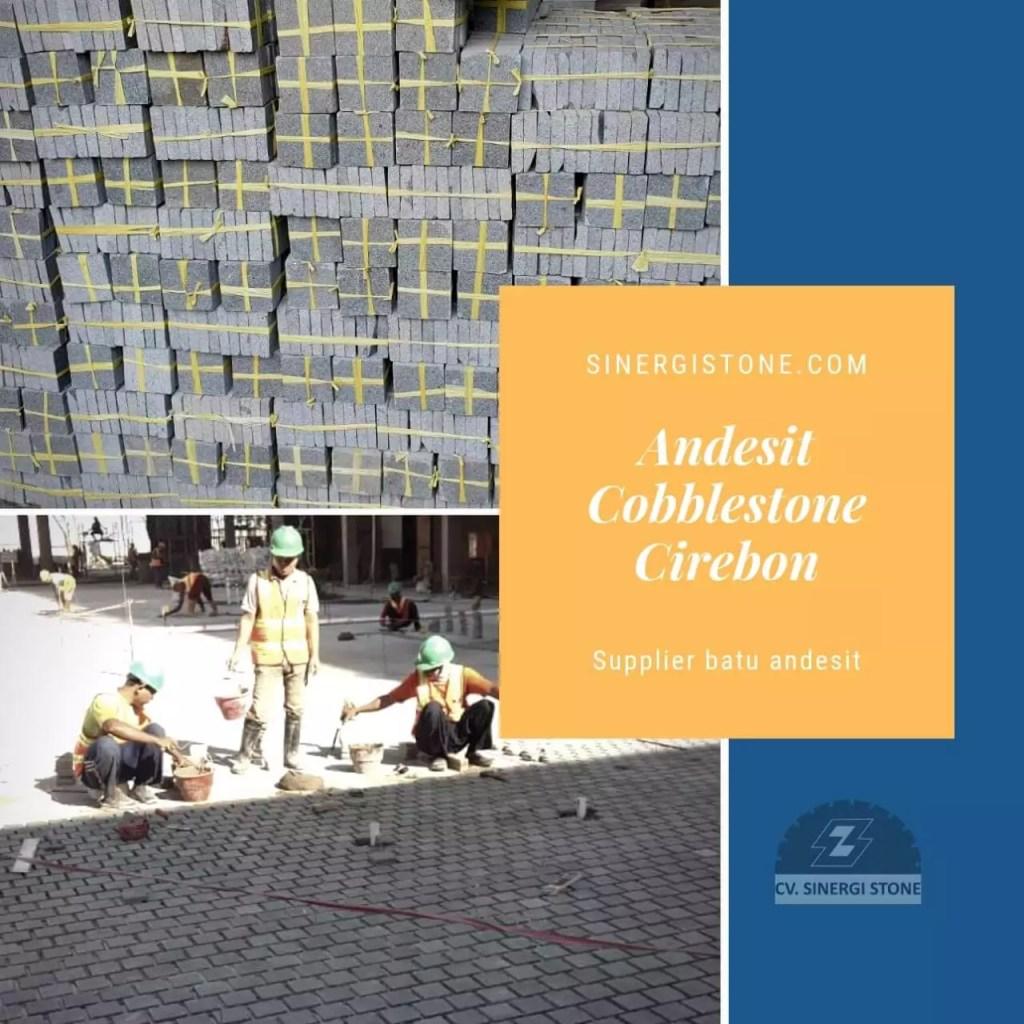 Harga Jual Batu Kobel Andesit Cobblestone Cobble Stone Rata Alam