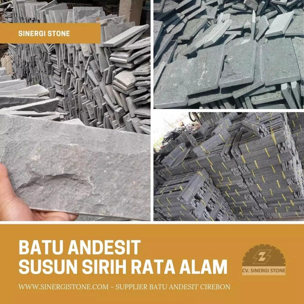 Harga Batu Andesit Susun Sirih Rata Alam Polos & Motif 2019